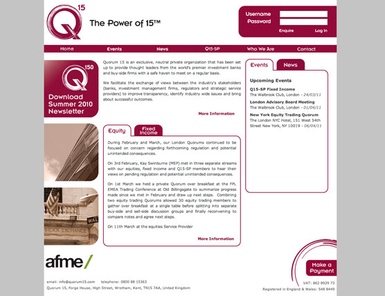 Quorum 15 Website